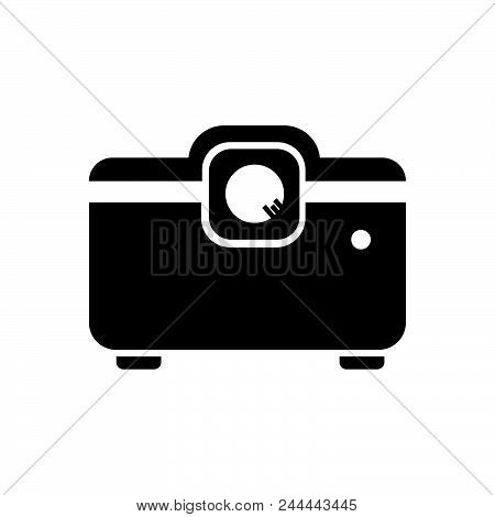 Projector vector icon on white background. Projector modern icon for graphic and web design. Projector icon sign for logo, website, app, ui. Projector flat vector icon illustration, EPS10 stock photo