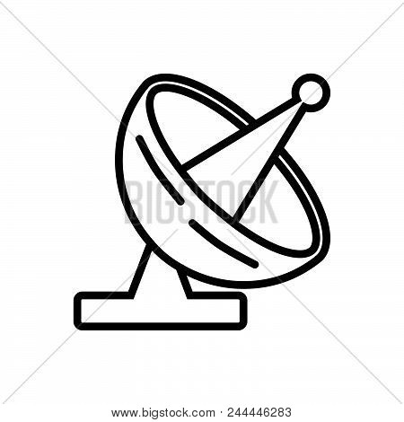 Satellite Front View Antenna Front View Outlined Symbol