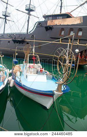 Aya Napa, Marina, port, ships and boats sea Cyprus stock photo