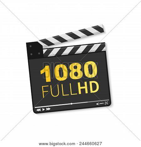 Logo 1080 Full HD. Vector illustration of 1080 Full HD video. stock photo