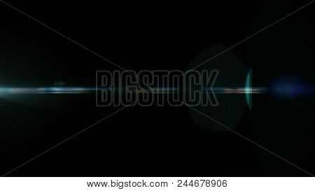 Real Lens Flare Shot in Studio over Black Background. Easy to add as Overlay or Screen Filter over Photos  stock photo