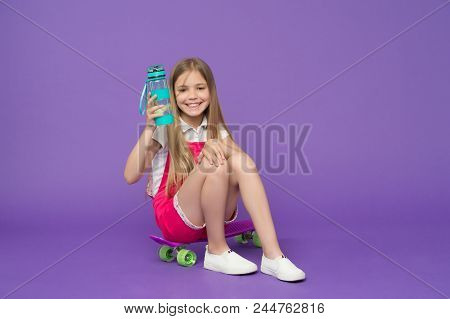 Girl Sits On Bottle