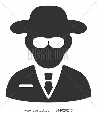 Secure agent vector icon. Flat Secure agent symbol is isolated on a white background. stock photo