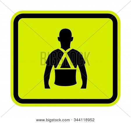 Wear Back Support Symbol Sign Isolate On White Background,Vector Illustration EPS.10 stock photo