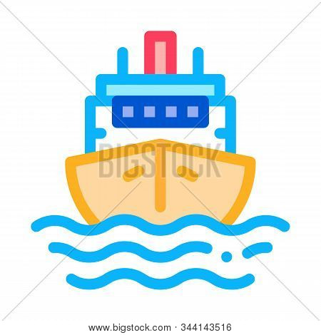 Cruise Vessel Icon Vector. Outline Cruise Vessel Sign. Isolated Contour Symbol Illustration stock photo