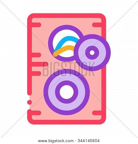 Broken Dynamic Icon Vector. Outline Broken Dynamic Sign. Isolated Contour Symbol Illustration stock photo