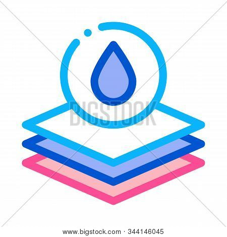 Absorbent Layers Icon Vector. Outline Absorbent Layers Sign. Isolated Contour Symbol Illustration stock photo