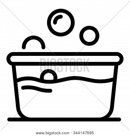 Wash basin icon. Outline wash basin vector icon for web design isolated on white background stock photo