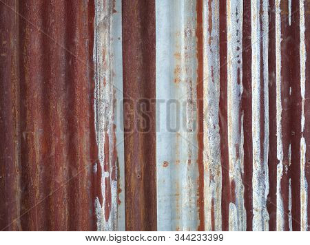 Old Zinc rust texture and background, Wall steel older dirty grunge surface fence. Abstract Image. stock photo