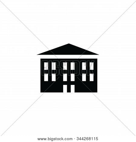 Big Building icon isolated on white background. Big Building icon simple sign. Big Building icon trendy and modern symbol for graphic and web design. Big Building icon flat vector illustration for logo, web, app, UI. stock photo