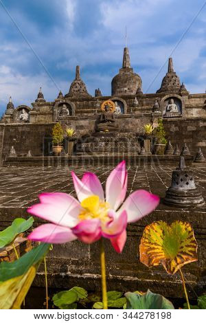 Buddhist temple of Banjar in island Bali Indonesia - travel and architecture background stock photo