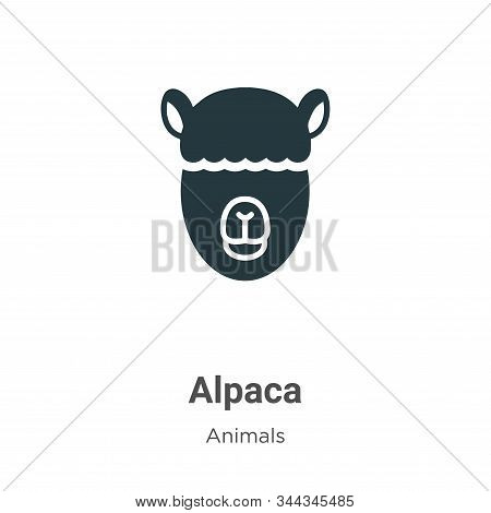 Alpaca vector icon on white background. Flat vector alpaca icon symbol sign from modern animals collection for mobile concept and web apps design. stock photo
