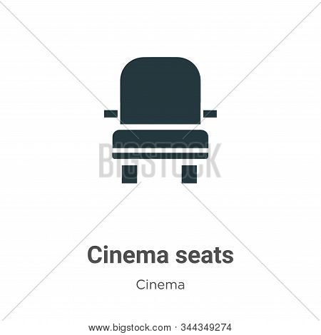 Cinema seats vector icon on white background. Flat vector cinema seats icon symbol sign from modern cinema collection for mobile concept and web apps design. stock photo