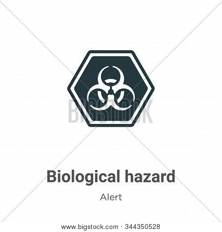 Biological hazard vector icon on white background. Flat vector biological hazard icon symbol sign from modern alert collection for mobile concept and web apps design. stock photo