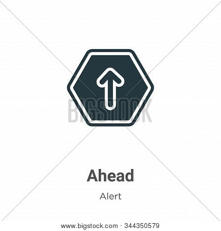 Ahead vector icon on white background. Flat vector ahead icon symbol sign from modern alert collection for mobile concept and web apps design. stock photo
