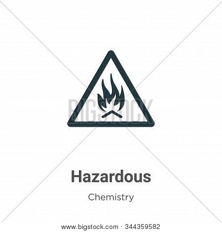 Hazardous vector icon on white background. Flat vector hazardous icon symbol sign from modern chemistry collection for mobile concept and web apps design. stock photo