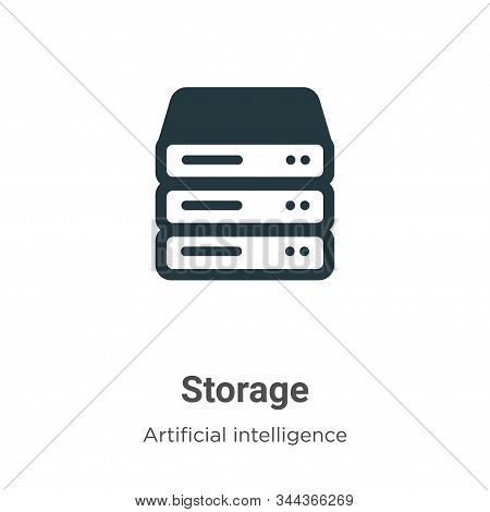 Storage vector icon on white background. Flat vector storage icon symbol sign from modern big data collection for mobile concept and web apps design. stock photo