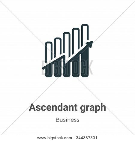 Ascendant graph vector icon on white background. Flat vector ascendant graph icon symbol sign from modern business collection for mobile concept and web apps design. stock photo