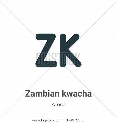 Zambian kwacha vector icon on white background. Flat vector zambian kwacha icon symbol sign from modern africa collection for mobile concept and web apps design. stock photo