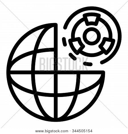 Global atomic risk icon. Outline global atomic risk vector icon for web design isolated on white background stock photo