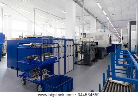 metal preparations are ready to the following stage of processing stock photo