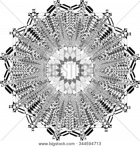 abstract arabesque double octogon structurated church ceiling black on transparent background designer cut stock photo