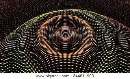 Circle Ripple Effect. Radial Pulse Surface Dimensional Wavy. Drip Drop To Data Flow. Surface Curl Ba