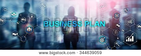 Horizontal Panoramic banner. New Business Plan. Analysis and strategy concept. stock photo