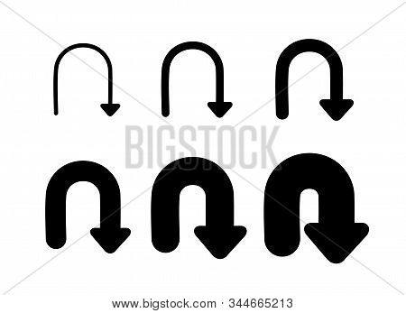 Set Arrows and directions signs refresh or update. stock photo