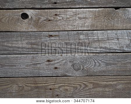 Wooden background for filming from old shabby boards. Rustic ancient table. stock photo