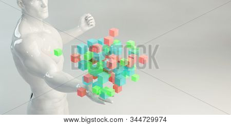 Seeking Inspiration or Looking to be Inspired For Art 3D Render stock photo