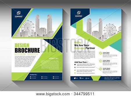 Business abstract vector template. Brochure design, cover modern layout, annual report, poster, flyer in A4 with colorful triangles, geometric shapes for tech, science, market with light background stock photo