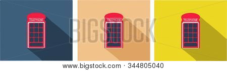 phone booth icon isolated on background , typical, uk, urban, vector stock photo