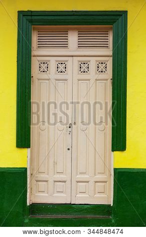 Colonial architecture in Nicaragua, Central America stock photo