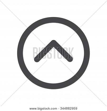 Upwards arrow icon isolated on white background. Upwards arrow icon in trendy design style for web site and mobile app. Upwards arrow vector icon modern and simple symbol. Upwards arrow icon vector illustration, EPS10. stock photo