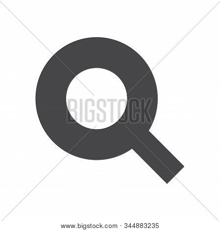 Magnifying glass icon isolated on white background. Magnifying glass icon in trendy design style for web site and mobile app. Magnifying glass vector icon modern and simple symbol. Magnifying glass icon vector illustration, EPS10. stock photo