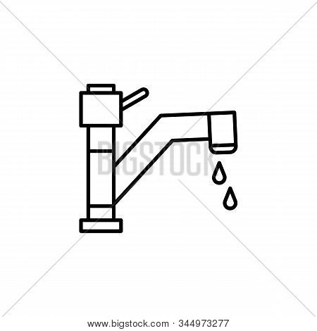 faucet, faucet tap line icon. Elements of energy illustration icons. Signs, symbols can be used for web, logo, mobile app, UI, UX stock photo