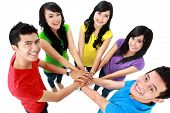 Happy Teenager Group