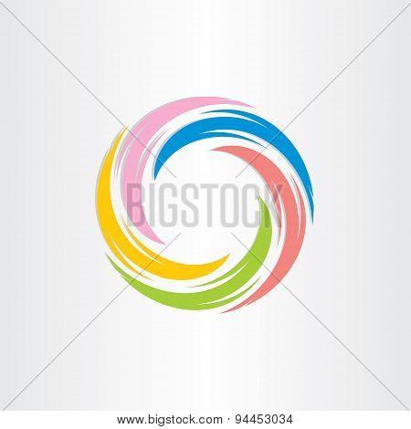 color tornado spiral abstract background design sign illustration stock photo