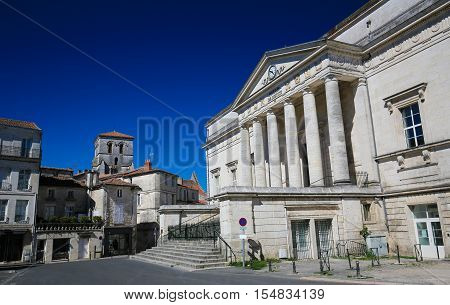 Palace of Justice in Angouleme capital of the Charente department in France. stock photo