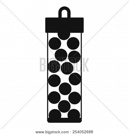 Pack with paintball bullets icon in simple style on a white background illustration stock photo