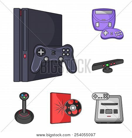 Game console and virtual reality cartoon icons in set collection for design.Game Gadgets vector symbol stock web illustration. stock photo
