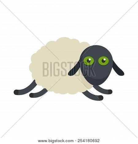 Tired sheep icon. Flat illustration of tired sheep icon for web isolated on white stock photo