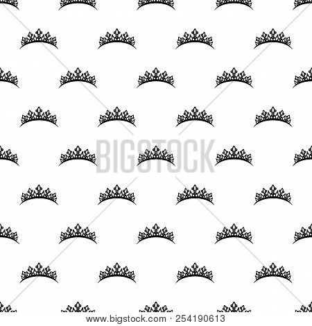 Diadem icon in pattern style. One of diadem collection icon can be used for UI, UX on white background stock photo