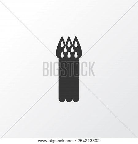 Asparagus icon symbol. Premium quality isolated sparrowgrass element in trendy style. stock photo