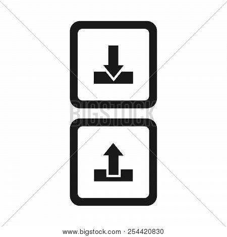 Download and upload button vector icon on white background. Download and upload button modern icon for graphic and web design. Download and upload button icon sign for logo, website, app, ui. Download and upload button flat vector icon illustration stock photo