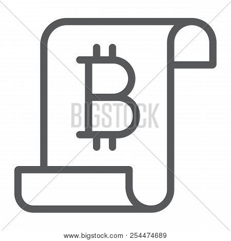Distributed ledger line icon, finance and money, digital ledger sign, vector graphics, a linear pattern on a white background, eps 10. stock photo