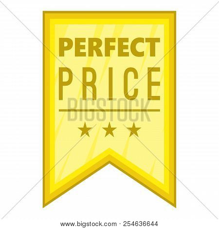 Perfect price pennant icon. Cartoon illustration of perfect price pennant icon for web stock photo