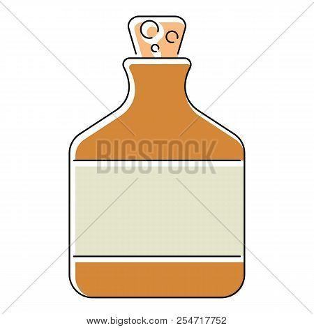 Ethanol in bottle icon. Flat illustration of ethanol in bottle icon for web isolated on white background stock photo