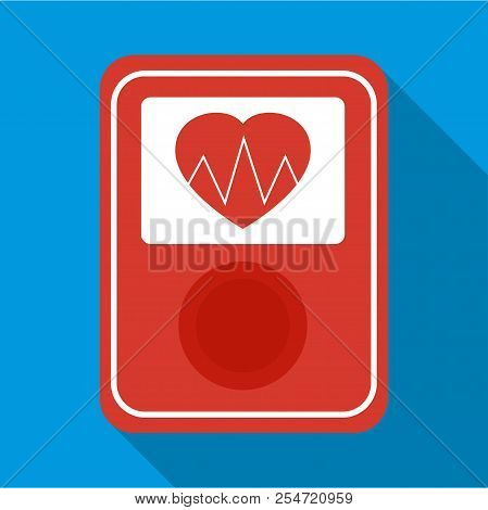 Screen of smart fitness watch icon. Flat illustration of screen of smart fitness watch icon for web stock photo